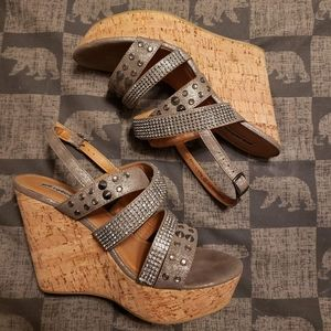 Not Yet Rated studded wedges size 10